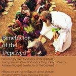 Asaram Bapu Ji inspires us to celebrate Purnima by serving mankind as God is in everyone #MyGuruPurnimaWith_बापूजी . http://t.co/IDF6f6rGKq