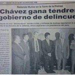 #Venezuela En 1998!! Y así... 16 años después la profecía se cumplió. #Venezuela #SOSVenezuela http://t.co/ArpS7PIoHL