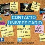 Hasta las 13 #ContactoUniversitario en vacaciones con @martin_a89 @luciagambarotta y equipo x @radioulaplata @unlp http://t.co/ORmaRK6MdL