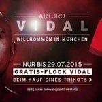 Neuzugang #Vidal wird die Nummer 23 tragen. Hol dir jetzt sein Trikot mit Gratis-Flock: http://t.co/6PIZ76kXFi http://t.co/xlBWVjUWJm
