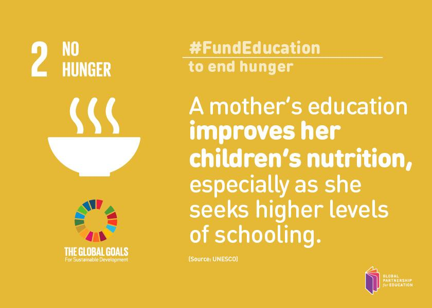 A mother's #education improves her children's nutrition, especially as she seeks higher schooling #FundEducation http://t.co/3G1cvsQmAu