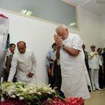 BJP4Uk: RT narendramodi: At 10 Rajaji Marg, New Delhi, paying my respects to Dr. Kalam. http://t.co/YKPv3KHQS1 #SaalEkShuruaatAnek #Inter…