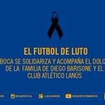 TuitterBostero: El comunicado de BocaJrsOficial por el fallecimiento de Diego Barisone. Q.E.P.D http://t.co/t0zAjaCn9B