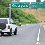 En instantes el presidente @MashiRafael inaugurará una nueva carretera de 5 Km. que une a Guayas y Manabí. http://t.co/uYp1r81LeN