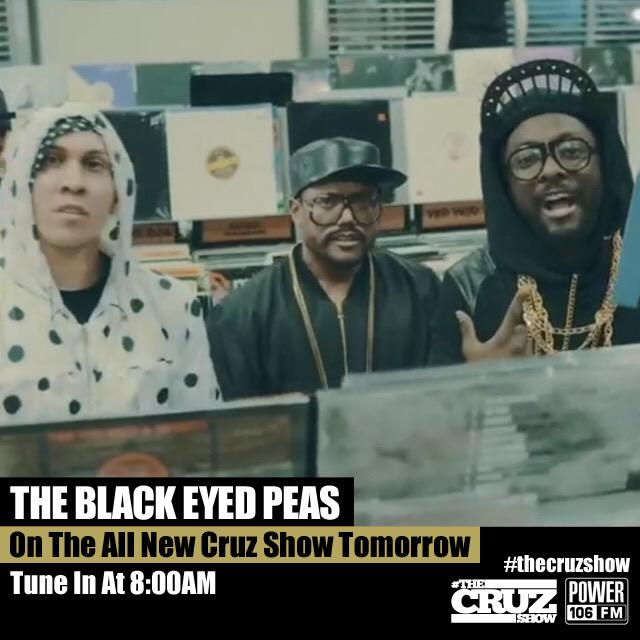 RT @bep: We are LIVE on #TheCruzShow @POWER106LA. You can listen live here: http://t.co/IKWBkQU6lf http://t.co/NplmYHxPZJ