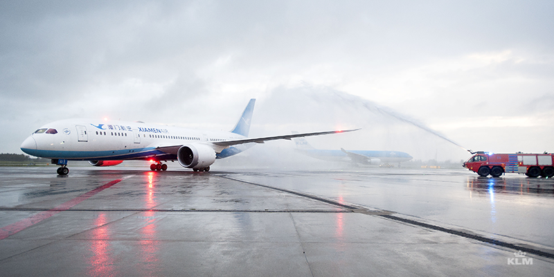 KLM and Xiamen Airlines now operate six weekly Amsterdam-Xiamen flights