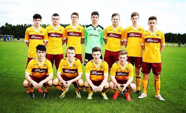Well done to James Scott and his Motherwell team who defeated County Down today at the #MilkCup2015 #ViolaFC http://t.co/UrRMt