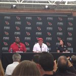 Bruce Arians introducing Levon Kirkland and Dr. Jen Welter. Welter is believed to be 1st female coach in NFL history http://t.co/iwc9Ul2St6