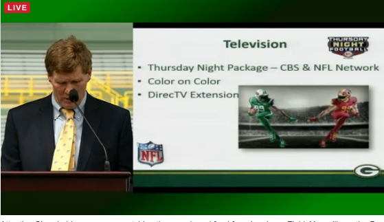 "Mark Murphy mentions how NFL Thursday night football games will feature ""color on color"": http://t.co/qf78Nggm1g"