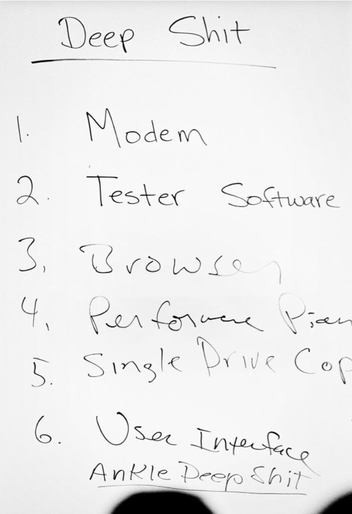 a steve jobs to do list includes a set of technical challenges for
