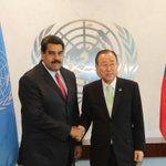#LaFoto | Encuentro del presidente @NicolasMaduro y el Secretario General de la ONU, Ban Ki-moon http://t.co/iDemBpMA21