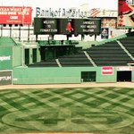 Via Red Sox groundskeeper Dave Mellor, Pedros number 45 has been cut into the grass at Fenway Park. http://t.co/8M5nsouKJ3