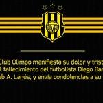 El Club Olimpo expresa sus condolencias a familiares y amigos de Diego Barisone. http://t.co/9RrtqD8RC9