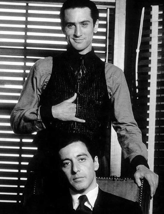 Robert De Niro and Al Pacino in 1974. http://t.co/TJ9biUDxdP