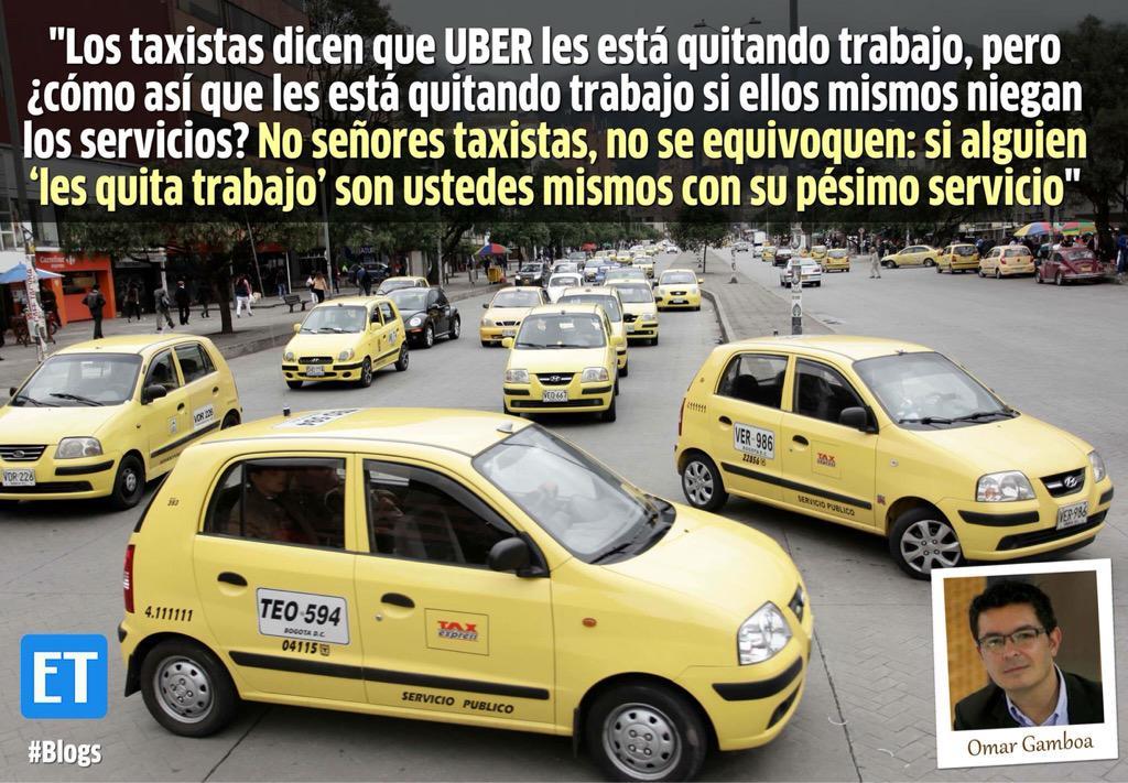 Me parece un absoluto descaro que haya paro de taxistas. @ElTiempo http://t.co/tk1Zd5dPSv vía @eltiempoblogs http://t.co/BVU0jpFsFK