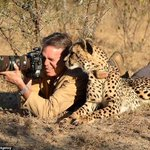 RT @meganchapman: This is how real men shoot wildlife, with a camera, not a gun. Photo credit Chris Du Plessis #CecilTheLion