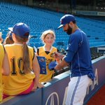 The Brampton Crazy Socks were very excited to meet the @BlueJays during BP. http://t.co/qqLUx78V9F