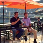 .@masnRoch and @Jim22Palmer during our #BirdlandSocial Q&A for Social Media Night. http://t.co/R9EzqZScKN
