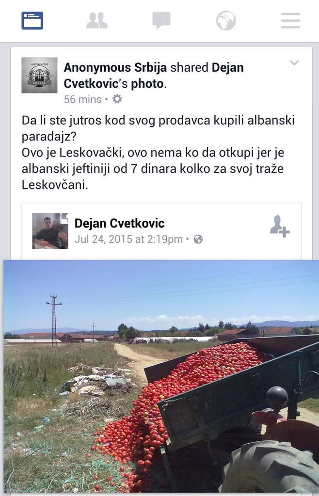 Oni nisu ni #krst, ni #loto, niti vruca tema za tviter, ali su prava slika ponizene Srbije -  srpski seljaci. http://t.co/IyrNgCinnJ