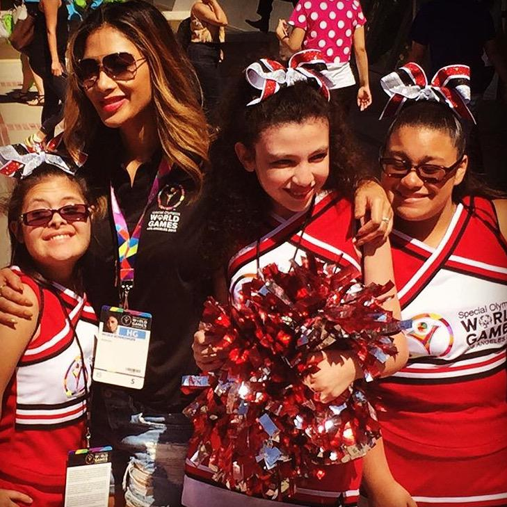 'Cause oh I think that I found myself a Cheerleader' ???? Met these beauties today at the @SpecialOlympics ???????????????????? http://t.co/mTYRDEwRRy