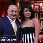 RT @ap_mum: Don't miss out a date with @AnupamPkher and @priyankachopra on #TheAnupamKherShow on 2nd August at 8pm @ColorsTV