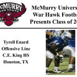 We want to welcome @TyrellEnard to the McMurry War Hawk Family! #WarHawkReady http://t.co/E9iAuBK73q