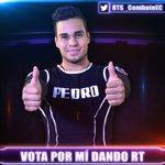 @PedroFCombate es uno de los nominados, ¡para salvarlo vota dándole RT a este tweet! Sólo contarán los RTs, no citas. http://t.co/aC5A1VlODm