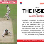 Are the best sprinters also the best runners between the stumps? Nopes...a chapter on what works in #TheInsider