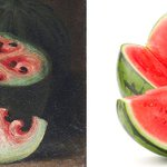 500 years ago watermelons looked way different than they do today. http://t.co/DHxAD2pb8F http://t.co/cjgK56c5ZE