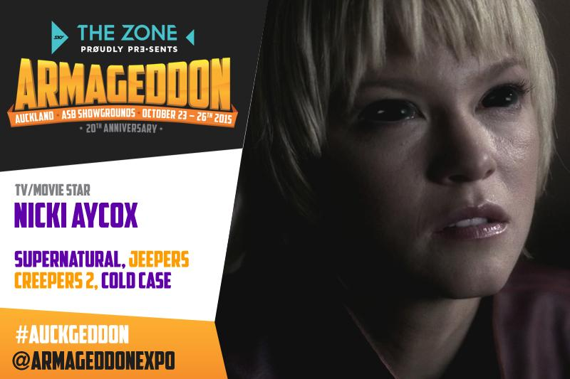 SPN demon Meg Masters 1.0 @RealNickiAycox is coming to #Auckgeddon #Awesomenessness http://t.co/OE1gfIi5We http://t.co/j0XrhNs6jT