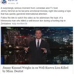 Jimmy Kimmel speech on #CecilTheLion (tears) http://t.co/79BacjY2kA asked to donate to Oxford http://t.co/WNkAZibVix http://t.co/CSnTYyBqFE