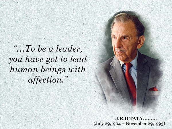 The Tata group pays tribute to JRD Tata on his 111th Birth Anniversary. #JRDTata http://t.co/1P6o0YM534