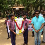 I m at Stuarts school where Kalam sir studied. On the way to rameswaram http://t.co/fFMYJEdteh
