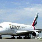 """طيران #الإمارات تضيف رحلة يومية رابعة ضمن خدماتها المنتظمة بين #دبي وبانكوك بطائرات إيرباص """"A380 """" http://t.co/6jdu9MMcFj"""