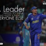 RT @TheWinningWay_: 'A leader needs to think beyond himself & ahead of everyone else.' @ShaneWarne @rajasthanroyals #TheWinningWay http://t…