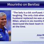 GULLY RT @SkySportsNewsHQ: Jose Mourinho has responded to comments made about him by the wife of Rafael Benitez http://t.co/Dqidt6FNq4