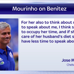 Jose Mourinho has responded to comments made about him by the wife of Rafael Benitez #SSNHQ #ShotsFired http://t.co/OZUfr2ccic