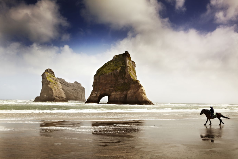 #picoftheday On the northwest shore of South Island, #NewZealand, giant rock formations loom over #Wharariki Beach. http://t.co/eFsynfpHj6