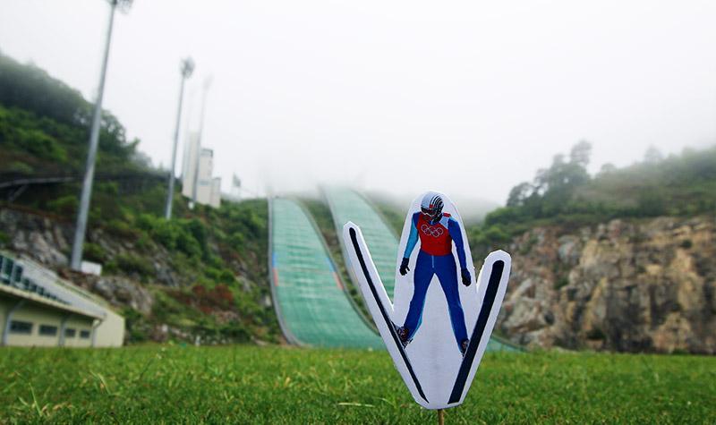 The cute ski jump...