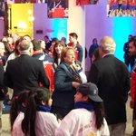 Presidenta Michelle Bachelet recibe a los deportistas y al Coch después de Toronto 2015 @lt_deportes http://t.co/qZYcFygesW