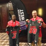 Greetings from Reece White and Cranston Jones from MW Football Media Day in Las Vegas. #GoLobos #MWFB http://t.co/JXcDjrUt3w