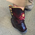 Sorry @CoachDanMullen & @BretBielema, @CoachGrahamASU wins the shoe wars w/some sweet alligator boots http://t.co/EdLoxTRFbX