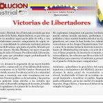 #RevolucionIndustrial Victoria de Libertadores... @NicolasMaduro #VamosConElBuenOficiante y #ChavezAmorConAmorSePaga http://t.co/yVhjaiVt3L