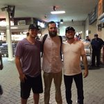 WU baseball alums @j_menken33 & Austin Lawrence w/ @Benjaminpaulsen after Rockies/Cubs game at Wrigley...#WUfam http://t.co/OfD2pPthKI