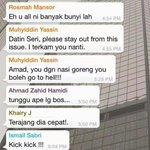 Dari group whatsapp sampai ke kabinet. Patut pun. Huhu http://t.co/TpRGz4MGIg