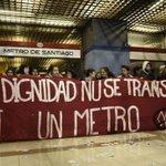 Trabajadores en huelga y estudiantes se tomaron oficinas centrales de Metro http://t.co/LEZQJDYxJn http://t.co/KcfWTVXzEP