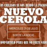 Hoy Miércoles, se nos viene el #Cacerolazo nacional en contra de la delincuencia, 21:00 hrs, toc, toc, toc, toc, toc. http://t.co/ZJbVPvridS