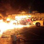 Contratistas de Codelco bloquean Ruta 5 Sur y queman dos buses en Rancagua http://t.co/BkHRt8yQ3M http://t.co/Qg0UrTAXe9