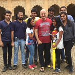 The force behind #PremRatanDhanPayo is phenomenal in every department. Here is a pic with the assistants to Sooraj.:)