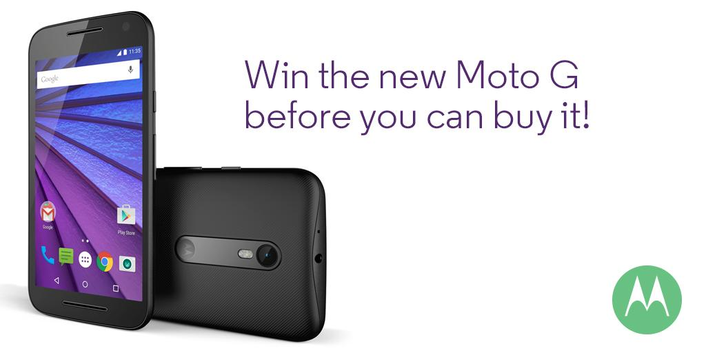 The new #MotoG is here… almost. Comment with your fave feature & #NewMotoG for a chance to win! Ends at midnight! http://t.co/WvR5mWj7c1